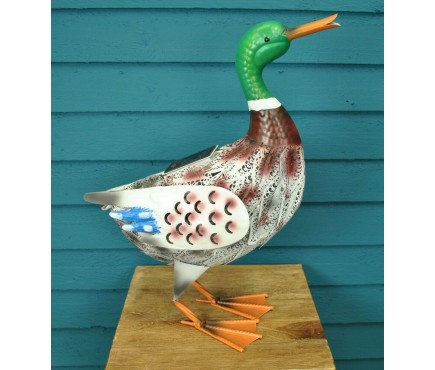 Metal Silhouette Duck Ornamental Garden Light (Solar)
