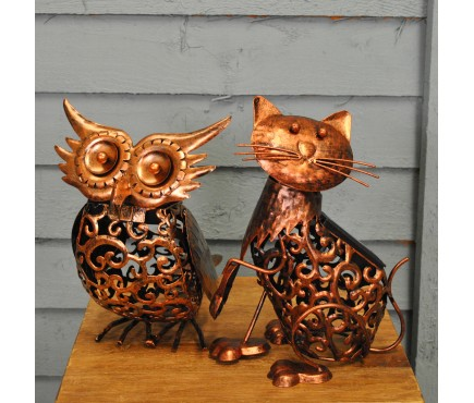 Silhouette Owl and Pussycat Garden Lights (Solar)