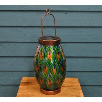 Peacock Design Outdoor Table Lantern (Solar)