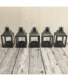 Garda Tealight Candle Lantern (Set of 5) in French Grey