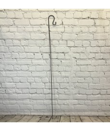 Shepherds Crook Black Metal Garden Border Hook (1.5m)