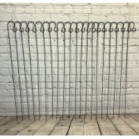20 x Black Border Garden Shepherds Crook Hooks (1.2m)