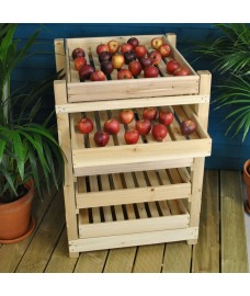 Traditional Wooden Apple Storage Rack (5 Drawer)