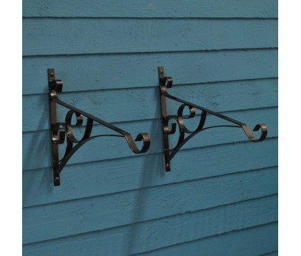 Metal Casterbridge Hanging Basket Brackets (Set of 2)