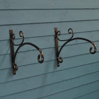 Metal Anglia Hanging Basket Brackets (Set of 2)