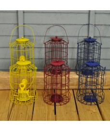 Squirrel Proof Bird Feeders (Set of 6) Colour Coded for Nut, Seed & Fat Ball