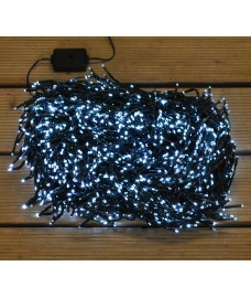 2000 LED White Cluster Supabright String Lights (Mains) by Premier
