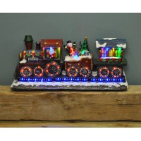 Christmas Train Ornament with LED Wheels