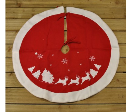 Santa Sleigh Christmas Tree Skirt Surround by Premier