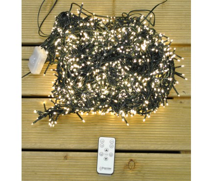 2000 LED Warm White Cluster Supabright String Lights (Mains)
