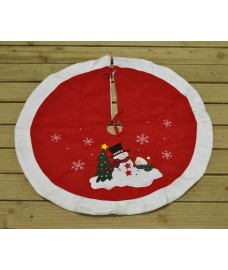 Snowman Christmas Tree Skirt Surround by Premier