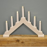 White Christmas Candle Bridge Light (Battery Powered) by Premier