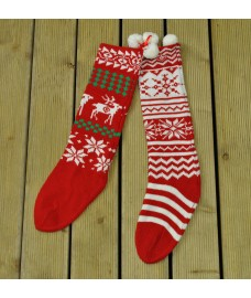 Traditional Knitted Wool Christmas Stocking (Sold Individually) by Premier