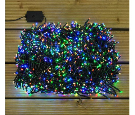 2000 LED Multi-Colour Cluster Supabright String Lights (Mains) by Premier