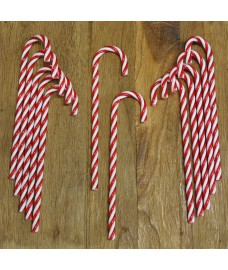 Red & White Candy Cane Christmas Decorations (Pack of 12) by Premier