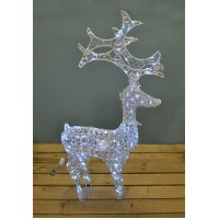 Acrylic Reindeer Christmas LED Light Decoration with Turning Head (1.2m) by Premier