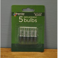 5 Replacement Clear Bulbs (2.4V) for String Lights by Premier