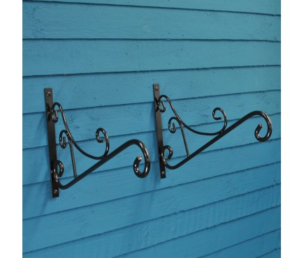 Factory Second Metal Mercia Brackets (Set of 2) for Bird Feeders, Lights or Topiary