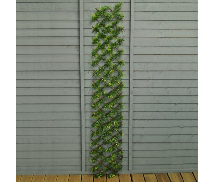 Green Japanese Maple Artificial Garden Leaf Trellis (1.8m x 0.3m)