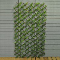 Green Japanese Maple Artificial Garden Leaf Trellis (1.8m x 0.9m)