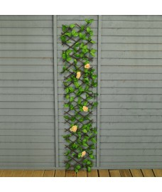 Selections Champagne Rose Artificial Garden Trellis (1.8m X 0.3m)
