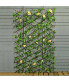Selections Champagne Rose Artificial Garden Trellis (1.8m X 0.9m)