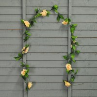 Selections Champagne Rose Artificial Garland (2m)