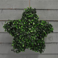 Leaf Effect Artificial Hanging Topiary Star (30cm)