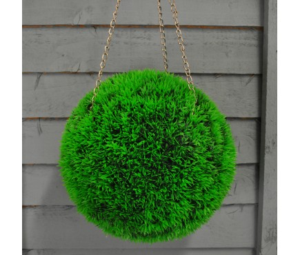 Grass Effect Artificial Topiary Ball (26cm)