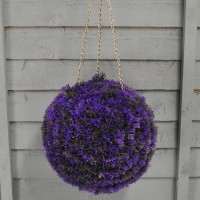 Purple Heather Effect Artificial Topiary Ball (26cm)