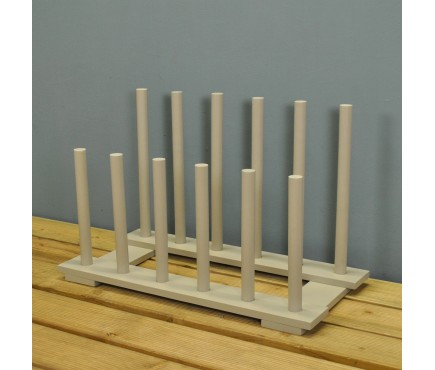 Wooden Welly Boot Rack in Light Grey (6 Pairs)
