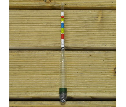 Homebrew Alcohol Hydrometer Triple Scale for Wine & Beer