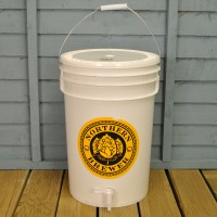 Plastic 25 Litre Beer Fermentation Bucket (5 Gallons) with Tap