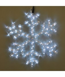 Twinkling White LED Snowflake Rope Light by Premier