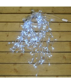 240 LED White Snowing Icicle String Lights (Mains) by Premier