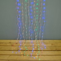 240 LED Multi-Coloured Curtain Lights (Mains) by Premier