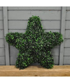 Leaf Effect Artificial Hanging Topiary Star (45cm)