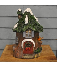 Christmas Scene Alpine Lodge Ornament Light by Three Kings