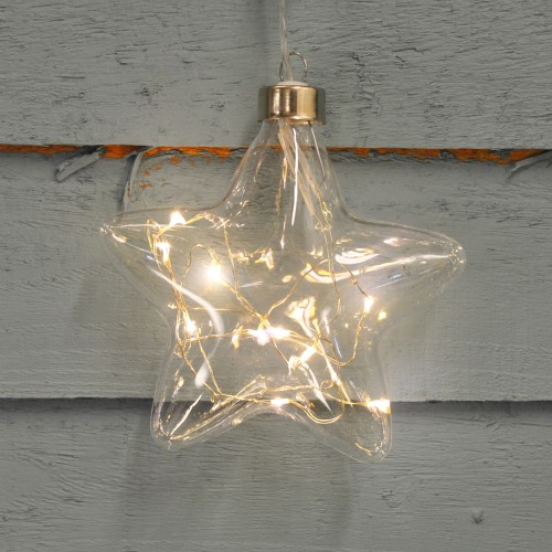 Battery Operated Led Crystal Star Light Decoration By Three Kings