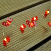 Battery Operated Christmas Stocking String Lights Set of 10 by Three Kings