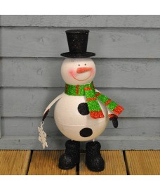 Wobbling Sparkly Snowman Christmas Character by Three Kings