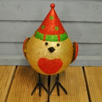 Wobbling Sparkly Robin Christmas Character by Three Kings