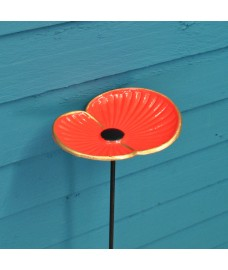 Wild Bird Poppy Flower Dish Bird Feeder on Pole by Gardman