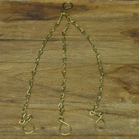 Replacement 3 Point Gold Hanging Chain for China Teacup & Saucer Bird Feeders