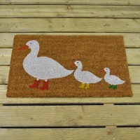 Ducks in Boots Coir Doormat (75 x 45cm) by Smart Garden