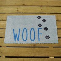 Dog Paws Woof Doormat (75 x 45cm) by Smart Garden
