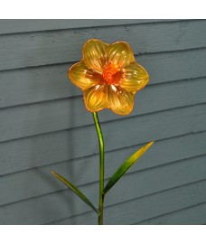 Glass Daffodil Garden Stake by Smart Garden