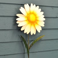 White Daisy Garden Stake Ornament