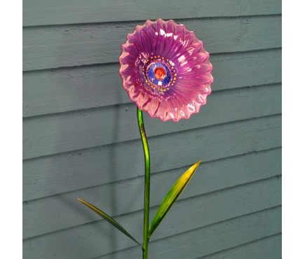 Glass Anemone Garden Stake by Smart Garden