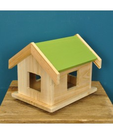 Wooden Bird Table Roof with Green Finish for Squirrel Proof Bird Tables